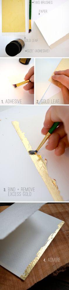 DIY gold leaf/emboss card