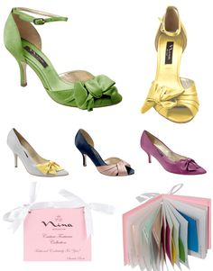 Found! Green Satin Shoes (and lots more colors)