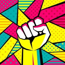 Shop Neon Power Fist Postcard created by ProtestArt. Pop Art Pictures, Pop Art Images, Bing Images, Protest Kunst, Protest Art, Pop Art Vector, Free Vector Art, Art Journal Pages, Journal Covers