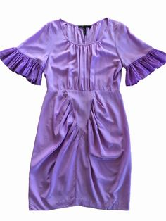 Fashion Deals, Silk Dress, Rompers, Purple, Sleeves, How To Wear, Stuff To Buy, Color, Clothes