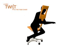 TWIST ergonomic chair supports the the forehead and upper chest.