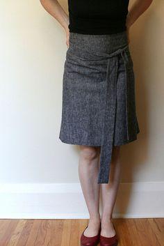 gray apron skirt by samlamb, via Flickr