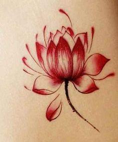 Red lotus flower tattoo designs