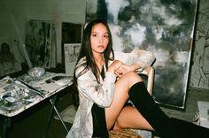 Nam Chau at her studio by Maxime Ballesteros Purple Art, True Love, Amazing Photography, Berlin, Selfie, Studio, Artists, Real Love, Studios