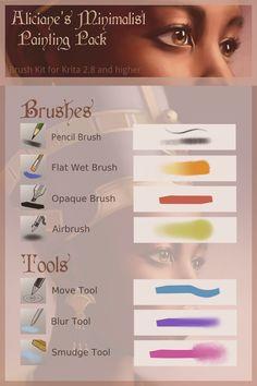 Krita: Minimalist Brush Pack (Updated) by Aliciane