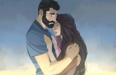 художник Nesskain 13 иллюстраций, на которых оживает история любви