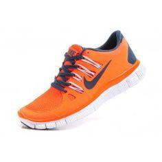 Nike Free 5.0+ Damesko Oransje Mørkblå   Nike sko tilbud   billige Nike sko på nett   Nike sko nettbutikk norge   ovostore.com