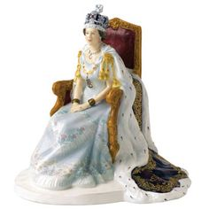 Royal Doulton Queen Elizabeth II  Diamond Jubilee Coronation Figurine. This one arrived today and it is gorgeous. The amount of detail is staggering.