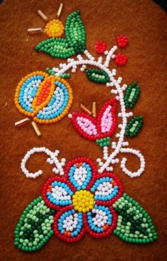 Even though classes are done, bead night continues! Native Beading Patterns, Bead Embroidery Patterns, Beadwork Designs, Native Beadwork, Native American Beadwork, Bead Embroidery Jewelry, Beaded Embroidery, Pony Bead Projects, Beading Projects