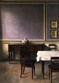 vilhelm hammershøi(1864-1916), interior with punchbowl, 1904. oil on canvas, 78.5 x 57.5 cm. private collection http://www.the-athenaeum.org/art/detail.php?ID=54240