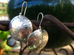 Enamel and Sterling Silver earrings by TriadStudioDesigns on Etsy