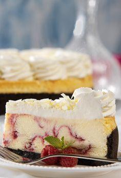White Chocolate Raspberry Truffle Cheesecake from The Cheesecake Factory