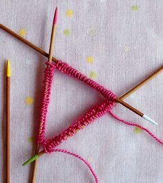 Double Pointed Needles | The Purl Bee (paint your double pointed needles in different colors to help you keep track of which needle is doing what!