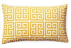 Myconos 12x20 Outdoor Pillow, Yellow on OneKingsLane.com