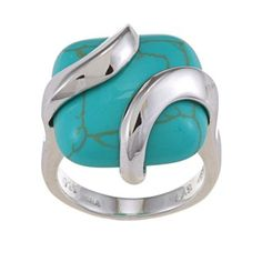 @Overstock - Turquoise stone ringSterling silver ring Click here for ring sizing guidehttp://www.overstock.com/Jewelry-Watches/Stonique-Creations-Sterling-Silver-Square-Turquoise-Ring/6115595/product.html?CID=214117 $44.99