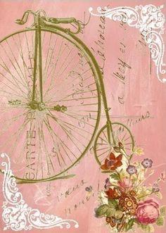 bicicleta rosa servilleta Pink.Vintage.01.of.04