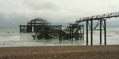 It's all falling apart!  Brighton Pier.  There are not many Victorian Piers left.  Visit England soon before everything crashes into the sea.