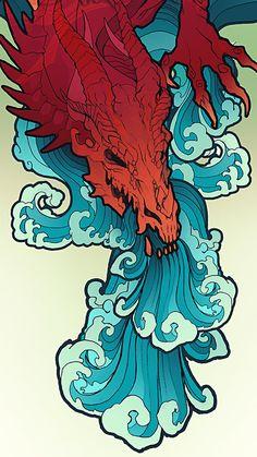 Pin by zoya on art sketches in 2019 dövme, sanat, çizim. Art And Illustration, High Wallpaper, Art Sketches, Art Drawings, Japanese Tattoo Art, Dragon Art, Red Dragon, Samurai Art, Japan Art