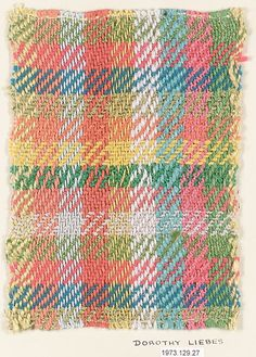 Textile sample, Dorothy Liebes  (American, Santa Rosa, California 1897–1972 New York)  | The Metropolitan Museum of Art