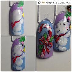 "#Repost @olesya_art_glukhova with @repostapp ・・・ Must have После  топа ""делаю пушистым "" Мишу при помощи гель-краски без остаточной липкости"