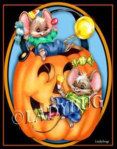 """""""Happy Halloween"""" © ladybug Creations."""