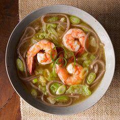 Shrimp Recipes: Buckwheat Noodle Soup - Fitnessmagazine.com