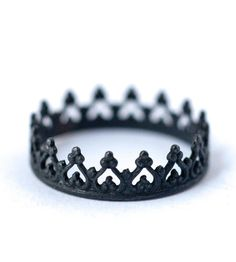 Oxidized Queen Crown Sterling Silver Ring | Jewelry Rings | LoveGem Studio | Scoutmob Shoppe | Product Detail