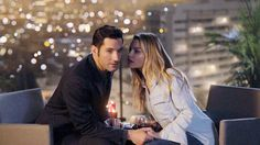 Tom Ellis as Lucifer with Lauren German as Det. Chloe Decker