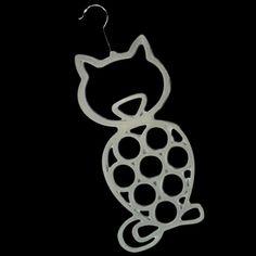 2 X CAT SCARF BELT TIES SHAWL NECKTIE TIGHTS HANGER WARDROBE ORGANISER STORAGE #BlackGinger Scarf Hanger, Scarf Belt, Wardrobe Organiser, Cat Scarf, Blue Cats, Belt Tying, Storage Organization, Shawl, Ties