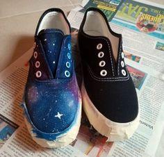 DIY: Pintar unas zapatillas al estilo galaxia