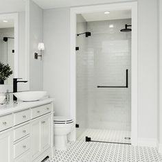Frameless Shower Doors, Bathtub Doors, Small Showers, Glass Showers, Bathroom Renovations, Remodel Bathroom, Small Shower Remodel, Budget Bathroom, Condo Bathroom