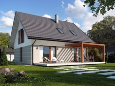 Alto project Even though old inside thought, your pergola has become having somewhat of a Rendered Houses, Backyard House, Lakeside Cottage, Prefabricated Houses, Tiny House Living, Facade House, Home Fashion, Planer, Building A House