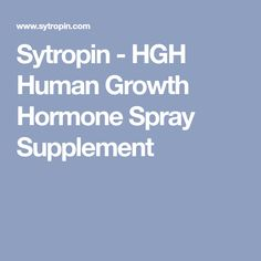 Sytropin - HGH Human Growth Hormone Spray Supplement