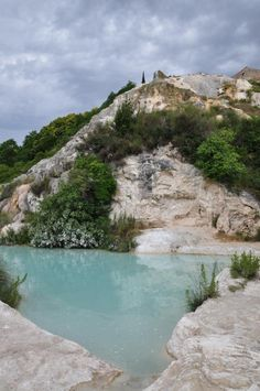 Natural Hot Springs in Bagno Vignoni, Val d'Orcia, Tuscany, Italy