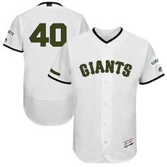 92c7bf9d7 Madison Bumgarner San Francisco Giants Majestic 2017 Memorial Day Authentic  Collection Flex Base Player Jersey - White