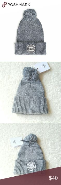 6a03e9eea1d Herschel Supply Co Winter Pom Beanie Grey New Crafted with warmth and  comfort in mind