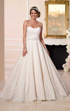 Wedding Dress 6152 without the lace jacket.