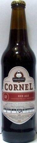 Cerveja Cornel Red Ale, estilo Extra Special Bitter/English Pale Ale, produzida por Podklášterní Pivovar Třebíč, República Tcheca. 5% ABV de álcool.