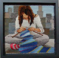 Sarah Swett  Sarah Swett spins, knits, laughs, paints and weaves tapestries in her studio in Moscow, Idaho. Her work travels extensively t...