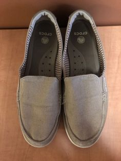 366b4cdf62a5 CROCS 14391 Tan Canvas Slip On Womens Shoes Size 10  fashion  clothing   shoes  accessories  womensshoes  flats (ebay link)
