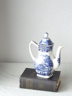 Grindley Staffordshire Coffee Pot by LesTempsPerdus on Etsy
