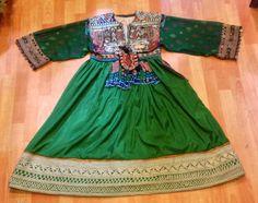 Vintage Afghan ethnic dress vintage tribal handmade by akcaturkmen