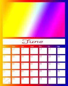 June 2013 Printable Calendars