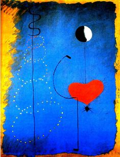 A Miro painting, placed here to remind me of the palette and design. Will try for an homage-to-Miro scarf soon. Spanish Painters, Spanish Artists, Joan Miro Pinturas, Joan Miro Paintings, Art Sur Toile, Jackson Pollock, Art Moderne, Art Plastique, Surreal Art