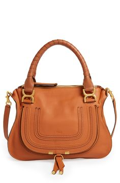 006c345d695d Obsessing over this classic Chloe satchel in a rich brown leather. Handles  and an optional