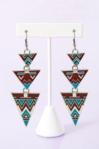 Phoenix Triangle Earrings