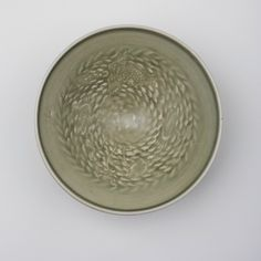 Celadon yaozhou conical bowl, Northern Song dynasty, Photo courtesy Marchant with upright rim, moulded on. Chinese Art, Asian Art, Pots, Pottery, China, Ceramics, Tableware, Ceramica, Ceramica