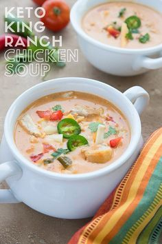 Keto Chicken Soup, Keto Soup, Chicken Soup Recipes, Slow Cooker Soup, Slow Cooker Recipes, Low Carb Recipes, Cooking Recipes, King Ranch Chicken, Keto Diet For Beginners