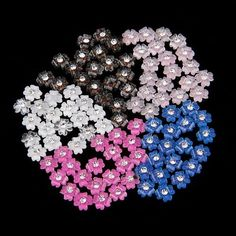 100 Mix Colors Acrylic Nail Art Tips 3D Flower Rhinestones Decoration *** Visit the image link more details. Note:It is Affiliate Link to Amazon.