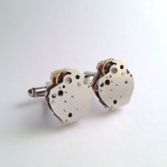 Men's Hand Made Cufflinks Vintage Premier Watch Movement Silver Metal Cuff Links
